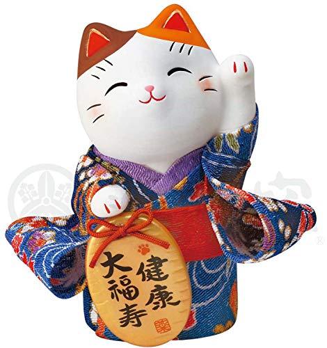 (NAGAI JAPAN MITOUKAN 7418 Japanese Kimono Maneki Neko Beckoning Cat Lucky Cat)
