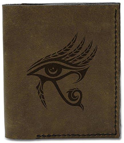 Ra Eye Wallet Leather d Horus MHLT Natural Ra Egyptian Eye Men's The Handmade 04 of Of 7 Genuine qRH7U