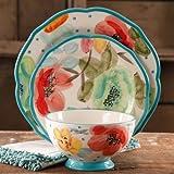 Pioneer Woman Dinnerware Vintage Bloom 12 Pc Set Floral Stoneware Ree Drummond