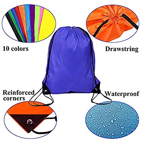 3D Print Drawstring Backpack Lightweight Travel Backpack Mountain Moon Stone
