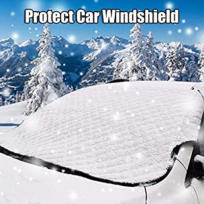 "Windshield Snow Ice Cover,Lord Eagle Windshield Cover for Ice and Snow, Magnetic Windproof Winter Windshield Cover Fits Most Cars, Trucks and SUVs (58"" x 46"")"