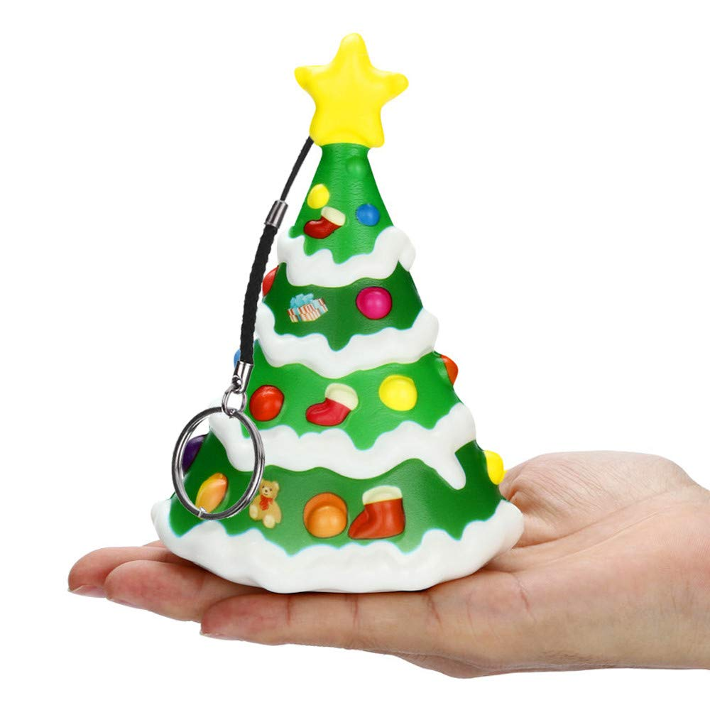 Jumbo Squishies Christmas Tree, Kawaii Cream Scented Squishies Slow Rising Kids Toys Doll Gift Fun Collection Stress Relief Hop Props Decorative Soft Cute Holiday Squishy Toys (Green)