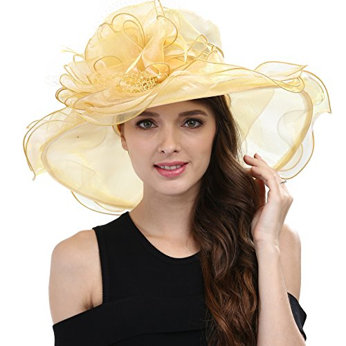 Janey&Rubbins Women's Kentucky Derby Racing Horse Hat Church Wedding Dress Party Occasion Cap -