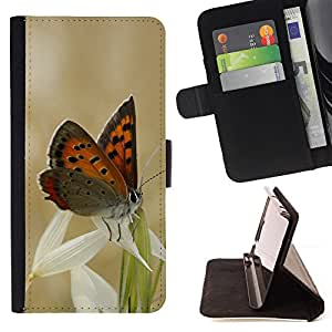 Jordan Colourful Shop - Butterflies and grass For HTC One M7 - Leather Case Absorci???¡¯???€????€???????????&A