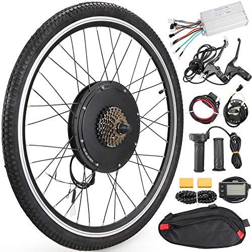 Anbull 26″ Rear Wheel E-Bike Conversion Kit, 48V 1500W Electric Bicycle Powerful Hub Motor Kit with Intelligent Controller and PAS System