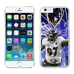Baltimore Ravens Arthur Jones Case For iPhone 6 White 4.7 inches
