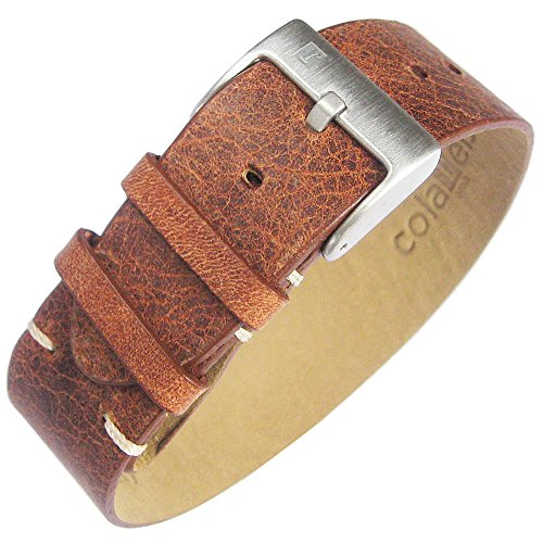 Brown Leather Strip Watch Strap ()