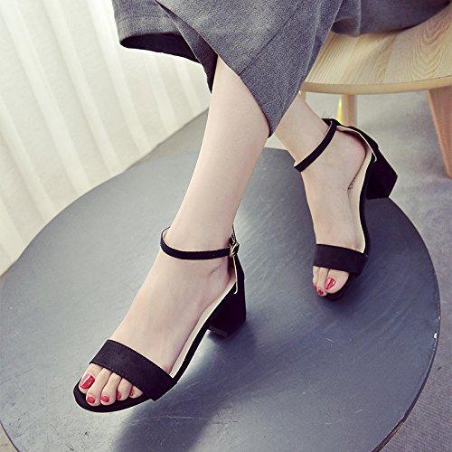 YMFIE Las Damas Verano Flores Dulce Dedos Sandalias Sandalias Calzado de Playa Banquete Zapatos Zapatos de Trabajo. e