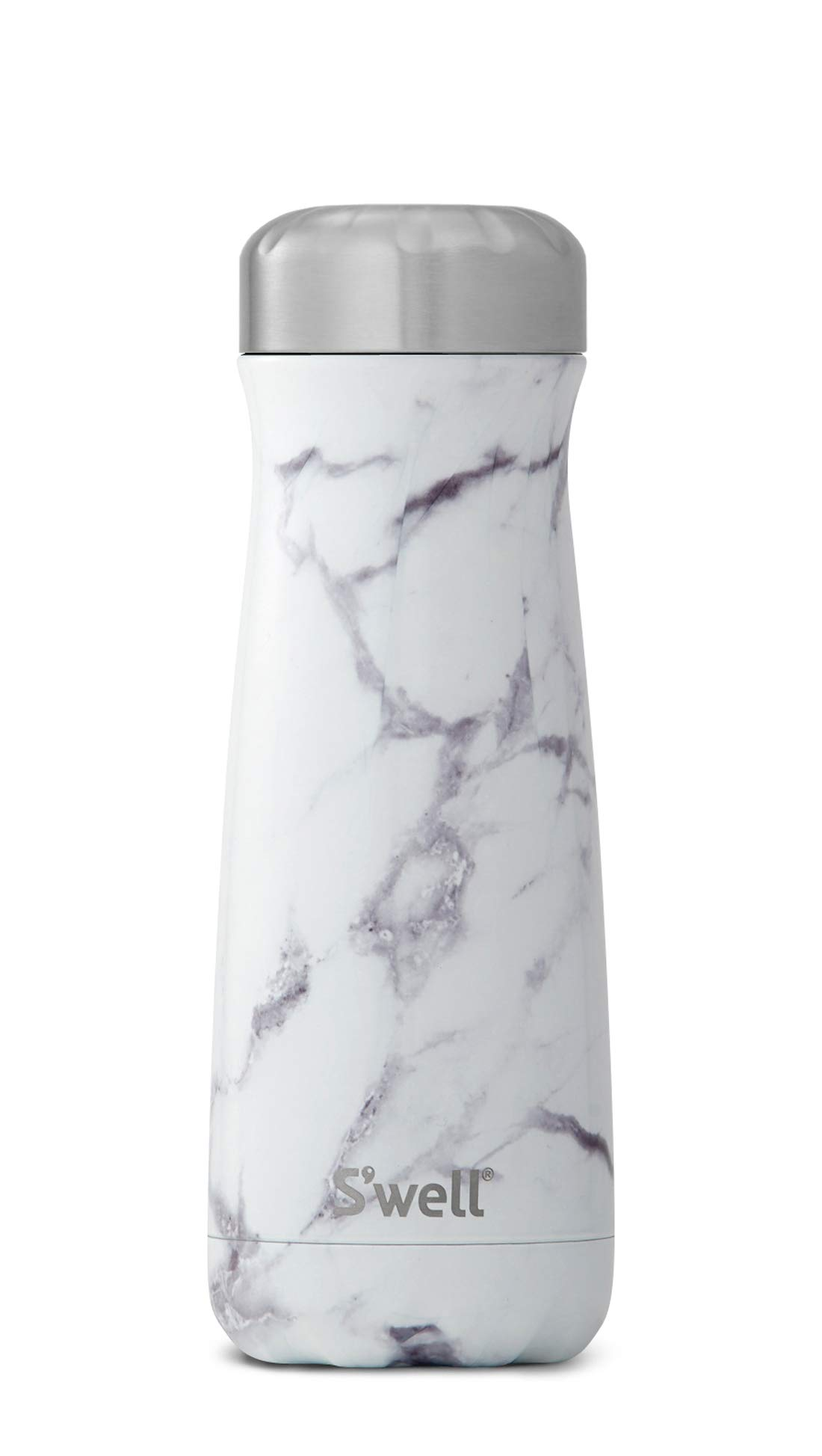 S'well 10320-B17-00910 Stainless Steel Travel Mug, 20oz, White Marble by S'well