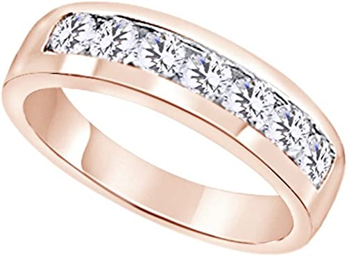 Wishrocks Princess Cut White CZ Mens Ring in 14K Gold Over Sterling Silver Gift for Fathers Day