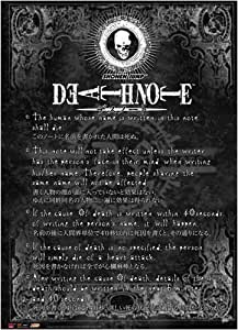 Great Eastern Entertainment Death Note Rule Wall Scroll, 33 by 44-Inch