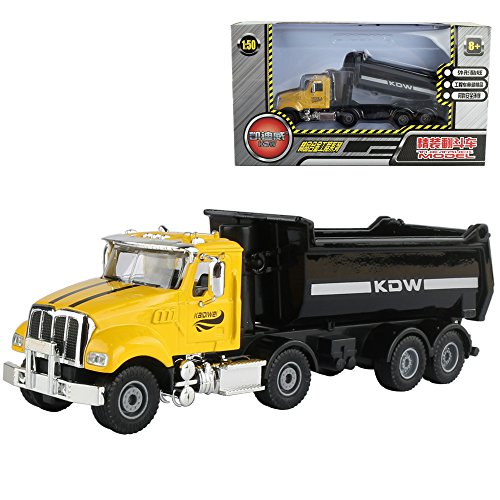 50 Diecast Vehicle (1/50 Scale Diecast Dump Trucks Construction Vehicle Model Toys for Kids)