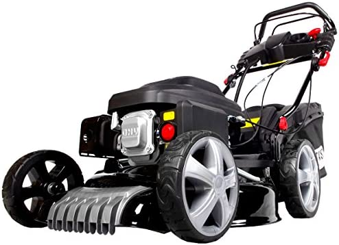 brast 2,5 kW Cortacésped de gasolina (3,4ps) eléctrico de Start tracción 46 cm Ancho de Acero Inoxidable. 60L cesta de 4 del Motor, certificado TÜV): Amazon.es: Bricolaje y herramientas