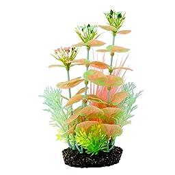 Saim Glow in the Dark Artificial Plastic Plant Fish Tank Decor Aquarium Ornament