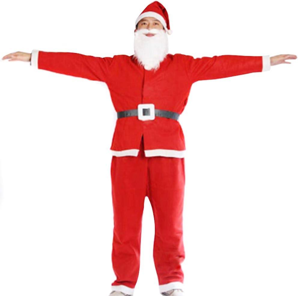 CerisiaAnn - Traje de Papá Noel, 5 piezas, unisex, ajustable ...