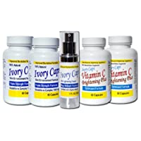 IvoryCaps System 2 (Advanced System) Skin Whitening Lightening Support Systems (...