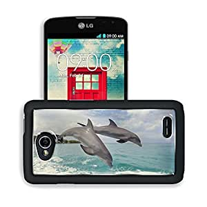 Animals Jumping Dolphins Enjoy Life LG Optimus L70 Dual D325 Snap Cover Premium Aluminium Design Back Plate Case Open Ports Customized Made to Order Support Ready 5 2/16 Inch (130mm) X 2 12/16 Inch (70mm) X 11/16 Inch (17mm) MSD L70 Professional Cases Acc