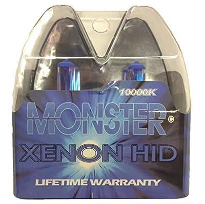 EuroDezigns H7 Monster Blue Headlights - High Beam 10,000k Xenon-Krypton HID Halogen Replacement Bulbs - (Pair)