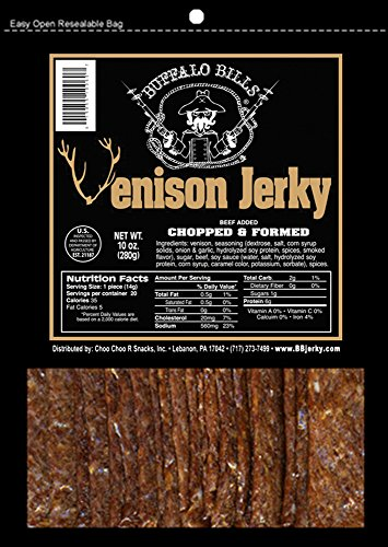 Buffalo Bills Venison Jerky Strips 10oz Pack (20 venison jerky 7