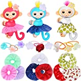 ibayda Monkey Glam 18 Piece Party Pack - Tutu Headband - Dress up Accessories for Baby Fingerlings Monkeys, Unicorns, Sloths, Pandas