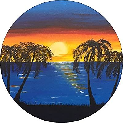 Beach Sunset with palm trees Spare Tire Cover for Jeep RV Camper and more (Select from popular sizes in drop down menu or contact us-ALL SIZES AVAILABLE) ...