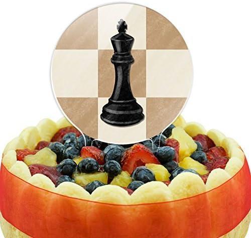 Negro King Cake Top Decoración by Juego de ajedrez hecho en Terra: Amazon.es: Hogar
