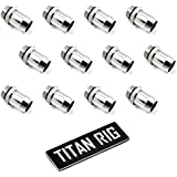 XSPC G1/4 to 1/2 Barb Fitting for Soft Tubing, Chrome, 12-pack