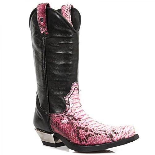 Nuovi Stivali Da Roccia M.7800pt-s2 Urban Cowboy Herren Stiefel Schwarz