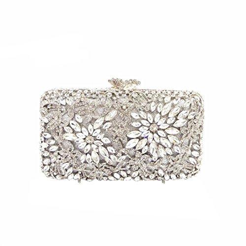 De Femmes Diamant De Sac La à Silver Main Mode De Soirée Diamants Luxe De Sac wPZpWfBq