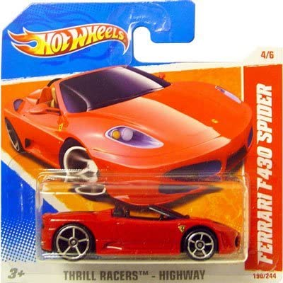 2011 Hot Wheels Red Ferrari F430 Spider 190 244 Thrill Racers Highway 4 6 Short Card By Hot Wheels Amazon De Spielzeug