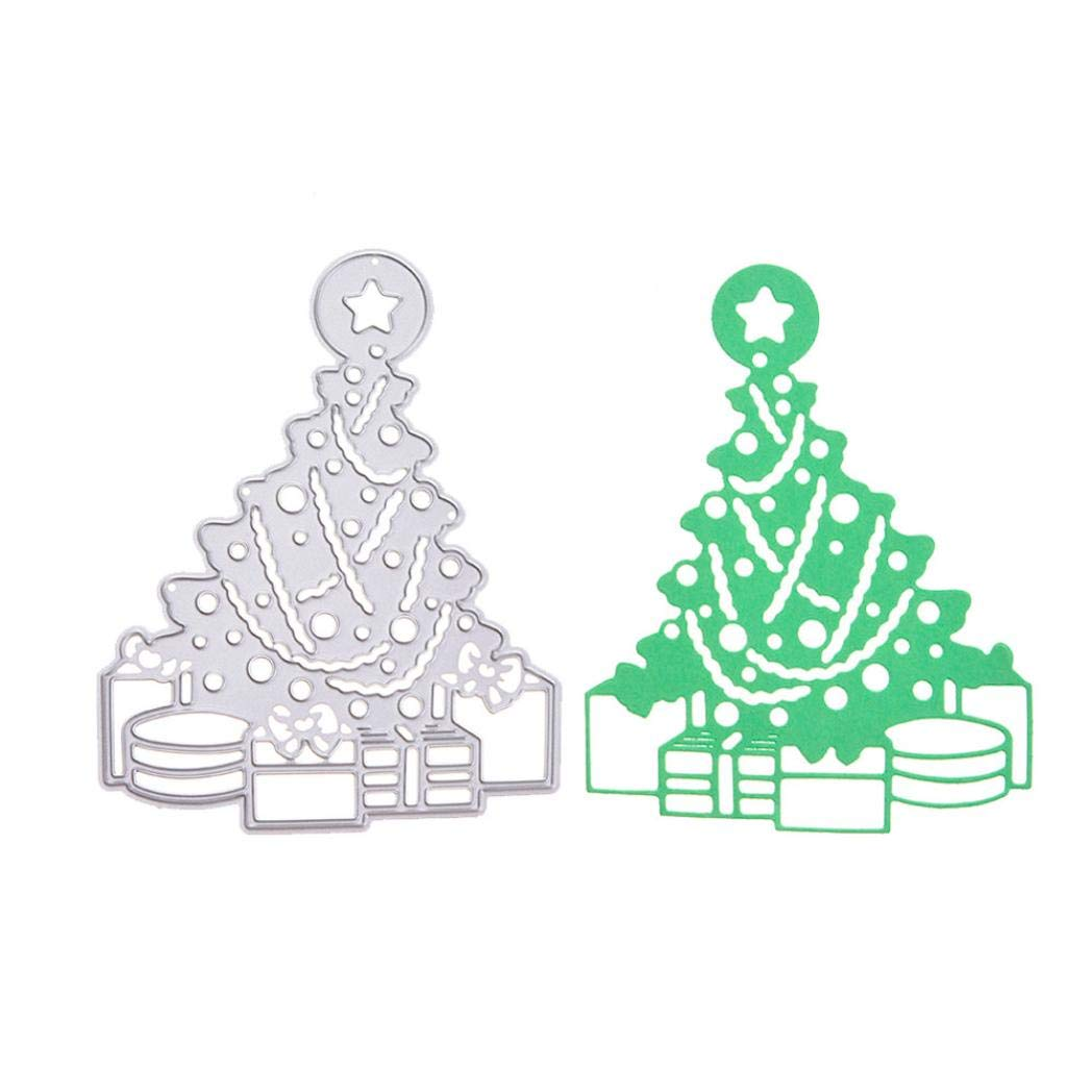 Merry Christmas Metal Die Cutting Dies Handmade Stencils Template Embossing for Card Scrapbooking Craft Paper Decor by E-Scenery (D)