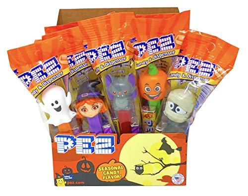 Pez Halloween Trick or Treat Individually Wrapped PEZ Candy and Dispensers with Tru Inertia Kazoo (12 Pack)
