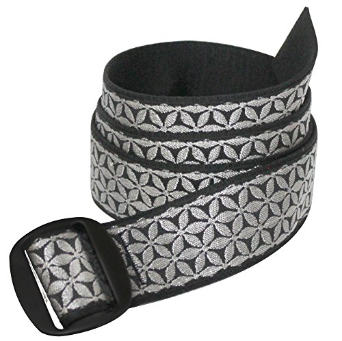 Bison Designs Women's Manzo Belt with Anodized Aluminum Buckle, Bling, - Belt Bison
