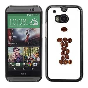 Be Good Phone Accessory // Dura Cáscara cubierta Protectora Caso Carcasa Funda de Protección para HTC One M8 // Coffee Beans Brown I Hipster