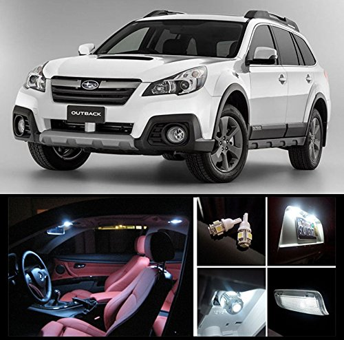 2010-2015-subaru-outback-white-led-package-vanity-interior-tag-reverse-12-pieces