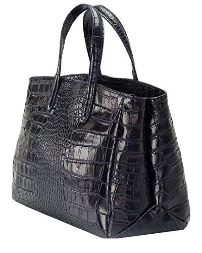 Lisa Minardi 9909Cognacs, Damen Handtasche mit Griff Nachtblau