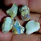 18.25Cts. 5Pcs Natural Multi Fire Ethiopian Opal Rough Cabs Bulk Lot Gemstones