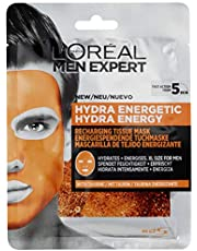Mannen Expert Hydra Energetic Tissue Gezichtsmasker voor mannen, Sheet Mask voor vermoeide huid (30 g)