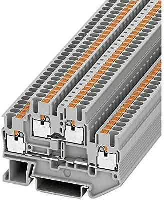5,2 mm, 101 mm, 48,6 mm, 400 V Electrical terminal block Phoenix PTI 2,5-PE//L//N Gris