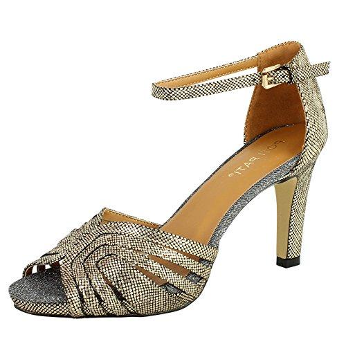 SnobUK - Zapatos de tacón  mujer dorado
