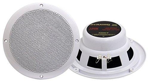 Pyramid MDC7 6.5-Inch Marine 120 Watts Dual Cone Waterproof Stereo Speakers