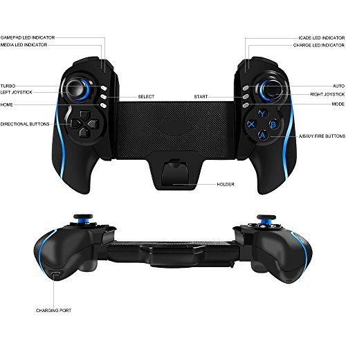 BEBONCOOL Tablet Bluetooth Game Controller for Android Tablets / Phone /  Samsung Gear VR / Emulator (Blue)