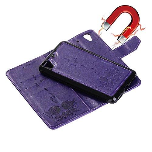 Flip Purple Stativ Baksiden Generasjon Snor Ii andre Wllet Og Posen Pu Og Prege Huawei Rosegold Avtakbart farge Y6 Mønster For Skinn Kortspor Fugl 0BwgqB