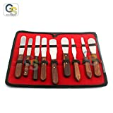 G.S German Grade Stainless Steel Wooden Handle LAB Mixing Spatula INERT Blades Dental Plaster ALGINATE Modeling LAB Dental Best Quality