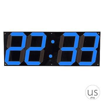 Topker Gran Reloj de Pared Digital LED de Pantalla del Control Remoto cronómetro Cuenta Regresiva el Despertador para el hogar Tienda: Amazon.es: ...