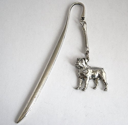 Rottweiler Dog Letter Opener Bookmark Combo in Fine English Pewter (With Gift Box)