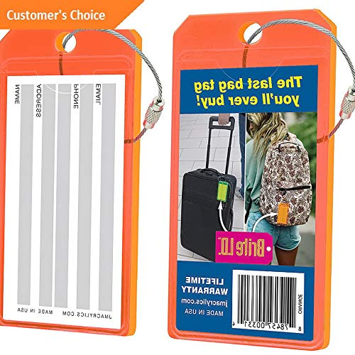 Amazon.com | Sandover Brite I.D. gage/Bag Tags - 2 Pack 8 Colors gage Accessorie NEW | Model LGGG - 6039 | | Luggage