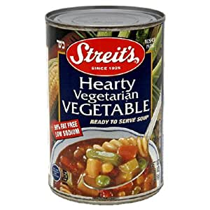 Streit's Canned Soup, Hearty Vegetarian Vegetable., 15-Ounce Cans (Pack of 12)