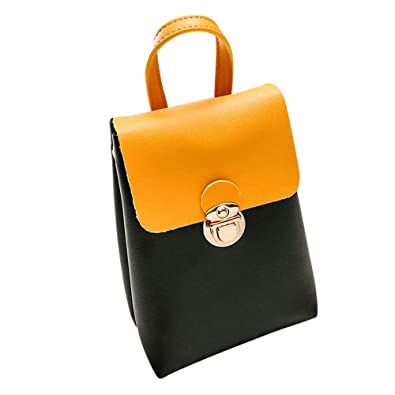 Amazon.com: Women Hit Color Shoulder Bag Messenger Satchel ...