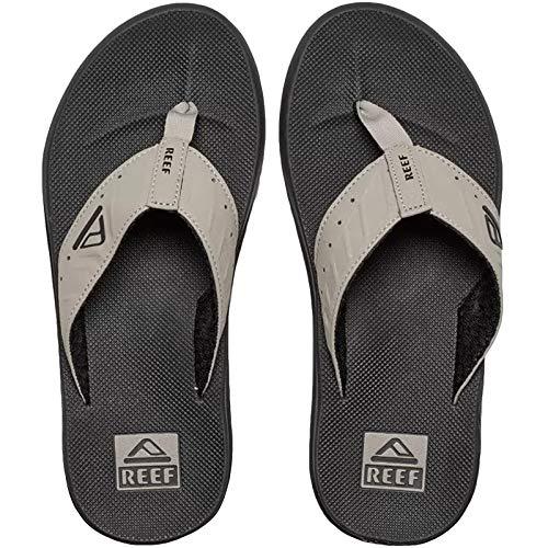 Reef Mens Phantom Sandals, Black/Tan , 15 M US